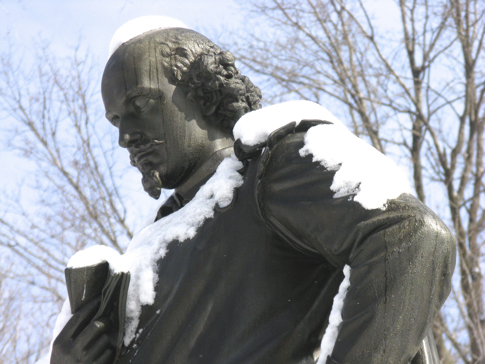 statue of william shakespeare in central park, nyc
