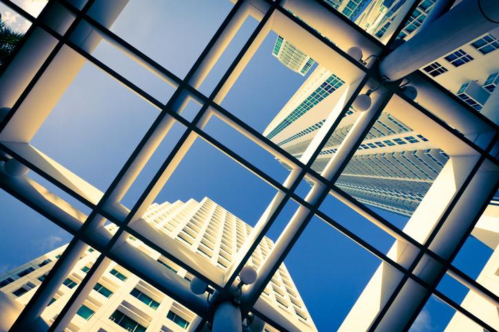 futuristic city scape