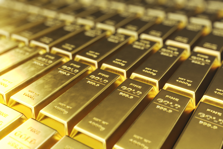 Stack close-up Gold Bars