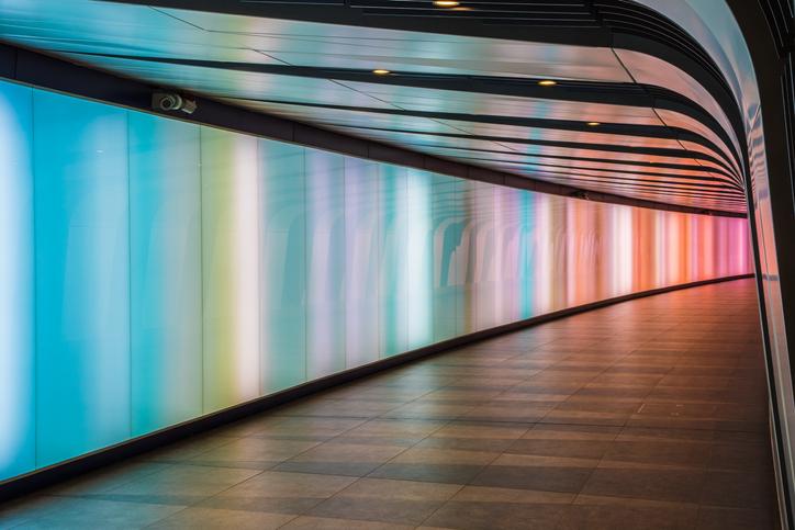 lighted corridor