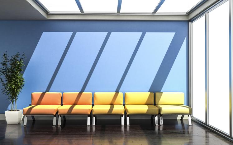 lobby in sunlight