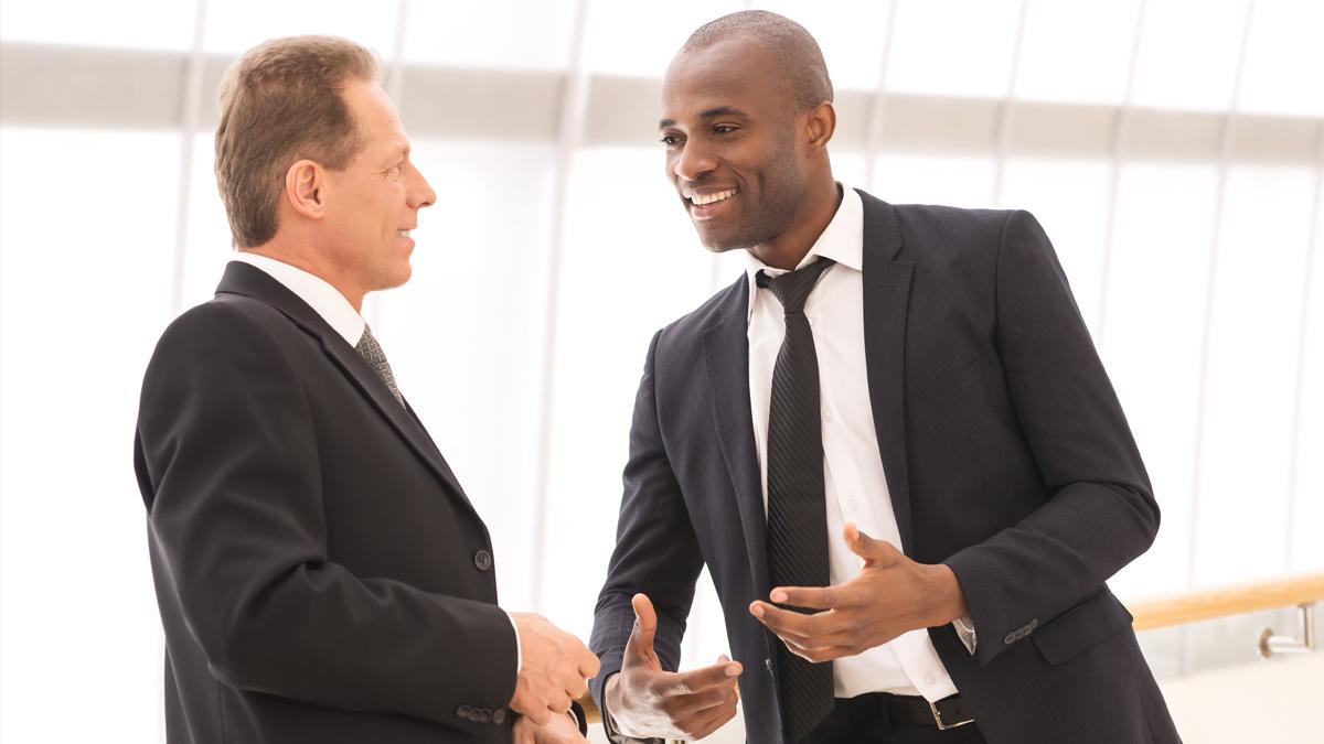 two executives talking